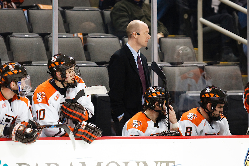 November 21, 2009:  BGSU's Assistant Coach Mike Mankowski during the NCCA hockey game between Michigan and the Bowling Green State University at Lucas County Arena in Toledo, Ohio.