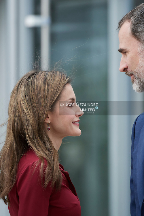 King Felipe VI of Spain, Queen Letizia of Spain attended 25th anniversary of the National Center for Food Technology and Security (CNTA) on June 6, 2017 in San Adrian, Navarra, Spain