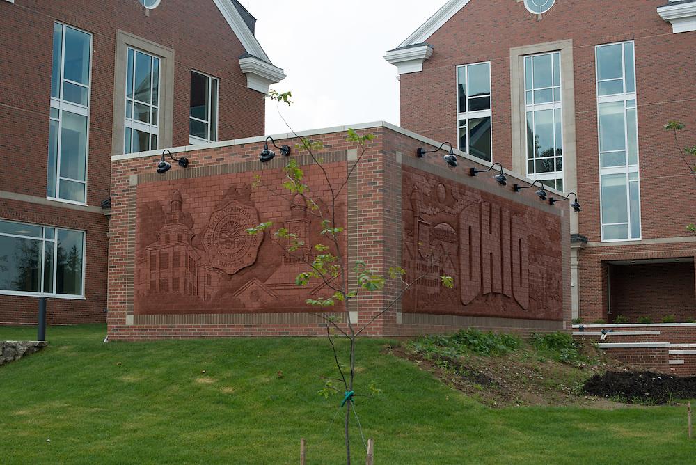 Brick Mural, South Green, Residence Hall