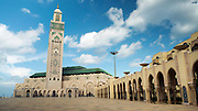 CASABLANCA, MOROCCO - October 20th 2015 - Hassan II Mosque - the largest Mosque in Africa.