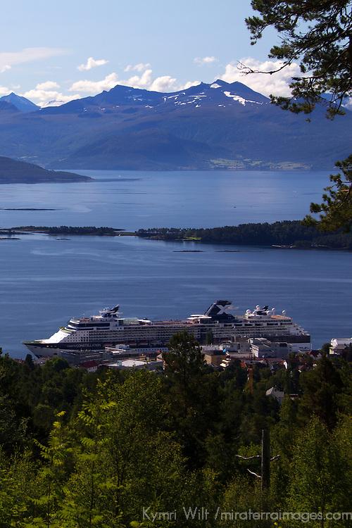 Europe, Norway, Molde. Celebrity Constellation Cruiseship in Molde.