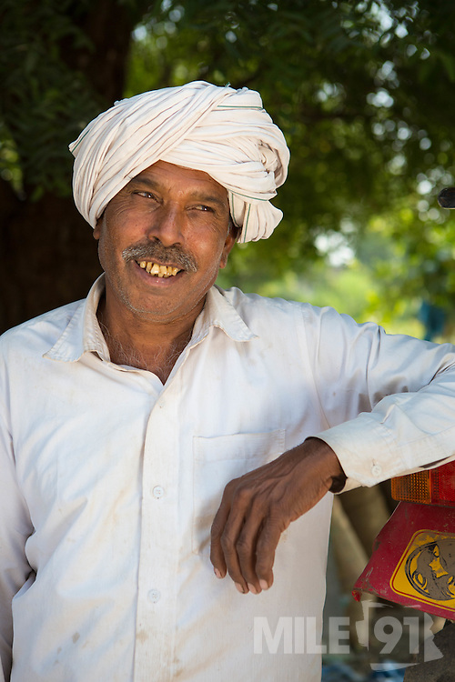 A cotton farmer, India.