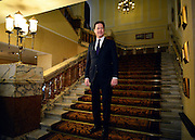 © Licensed to London News Pictures. 10/03/2013. Brighton, UK. Nick Clegg, Liberal Democrat Leader and Deputy Prime Minister walks to the auditorium before giving his keynote speech to the Liberal Democrat Spring Conference in Brighton today 10th March 2013. Photo credit : Stephen Simpson/LNP