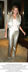 Social figure BROOKE DE OCAMPO, at a party in London on 24th September 2003.PNB 165