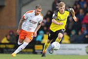 Burton Albion midfielder Jamie Allen runs with the ball during the EFL Sky Bet League 1 match between Burton Albion and Luton Town at the Pirelli Stadium, Burton upon Trent, England on 27 April 2019.