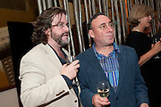 GREG DORAN; ANTONY SHER;  The opening night of Broken Glass at the Vaudeville Theatre. Followed by  the after show party is at One Aldwych. London. 16 September 2011. <br />  , -DO NOT ARCHIVE-© Copyright Photograph by Dafydd Jones. 248 Clapham Rd. London SW9 0PZ. Tel 0207 820 0771. www.dafjones.com.