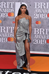 February 20, 2019 - London, United Kingdom of Great Britain and Northern Ireland - Vick Hope arriving at The BRIT Awards 2019 at The O2 Arena on February 20, 2019 in London, England  (Credit Image: © Famous/Ace Pictures via ZUMA Press)