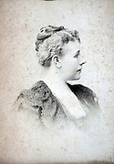 studio portrait woman late 1800s