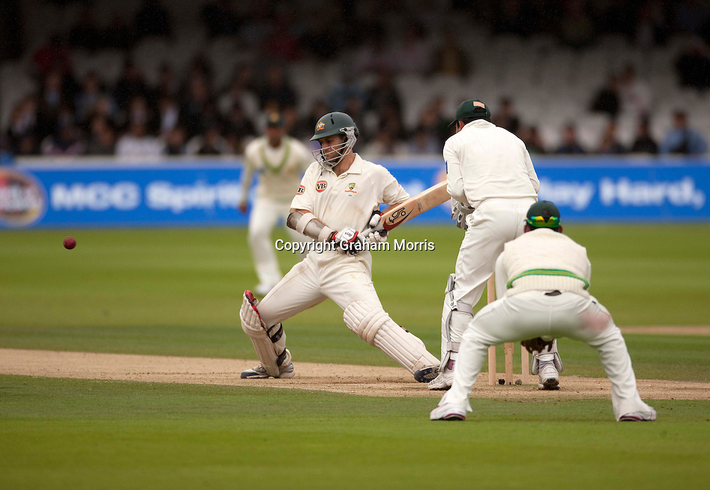 Simon Katich bats during the MCC Spirit of Cricket Test Match between Pakistan and Australia at Lord's.  Photo: Graham Morris (Tel: +44(0)20 8969 4192 Email: sales@cricketpix.com) 15/07/10