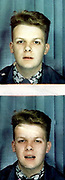 Peter McGowan passport photos, London, UK, 1984