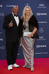 Laureus Academy Member Marvelous Marvin Hagler and guest arriving to the Laureus Sports Awards 2019 ceremony at the Sporting Monte-Carlo in Monaco on February 18, 2019. Photo by Marco Piovanotto/ABACAPRESS.COM
