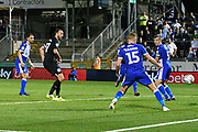 Goal - Glenn Murray (17) of Brighton and Hove Albion scores a goal to make the score 1-2 during the EFL Cup match between Bristol Rovers and Brighton and Hove Albion at the Memorial Stadium, Bristol, England on 27 August 2019.