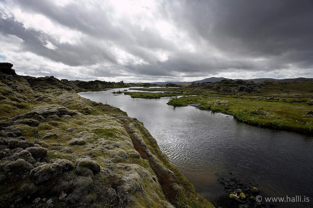 Hellisa river near Skafta in the highlands of Iceland - Hellisá við Skaftá á leið frá Lakagígum