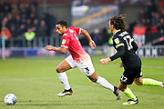 Salford City defender Ibou Touray in action during the EFL Sky Bet League 2 match between Salford City and Macclesfield Town at the Peninsula Stadium, Salford, United Kingdom on 23 November 2019.