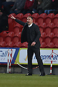 Darren Ferguson manager of \doncaster \rovers  during the Sky Bet League 1 match between Doncaster Rovers and Millwall at the Keepmoat Stadium, Doncaster, England on 27 February 2016. Photo by Ian Lyall.