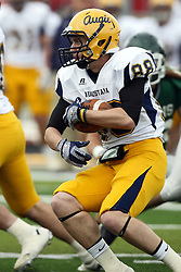 12 November 2011: Nick Krantz looks for a running lane during an NCAA division 3 football game between the Augustana Vikings and the Illinois Wesleyan Titans in Tucci Stadium on Wilder Field, Bloomington IL