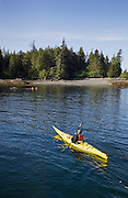 Sea kayaking at Orcas Cove with Southeast Sea Kayaks outfitters, Ketchikan, Alaska.