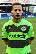 Forest Green Rovers Junior Mondal(25) during the EFL Sky Bet League 2 match between Oldham Athletic and Forest Green Rovers at Boundary Park, Oldham, England on 12 January 2019.