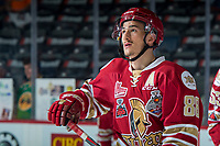REGINA, SK - MAY 19: Antoine Morand #88 of Acadie-Bathurst Titan warms up against the Swift Current Broncos at the Brandt Centre on May 19, 2018 in Regina, Canada. (Photo by Marissa Baecker/CHL Images)