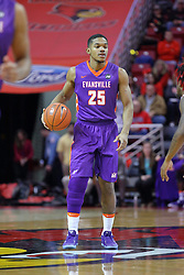 29 December 2016:  Duane Givson during an NCAA  MVC (Missouri Valley conference) mens basketball game between the Evansville Purple Aces the Illinois State Redbirds in  Redbird Arena, Normal IL