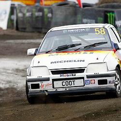 MSA British Rallycross Round 3, Knockhill Scotland 12th May 2013. Local driver Jim Black, Vauxhall Astra - Retro Rallycross 958 (c) MATT BRISTOW