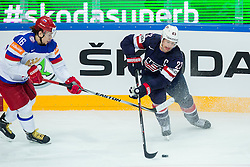 Sergei Plotnikov of Russia vs Matt Hendricks of USA during Ice Hockey match between USA and Russia at Semifinals of 2015 IIHF World Championship, on May 16, 2015 in O2 Arena, Prague, Czech Republic. Photo by Vid Ponikvar / Sportida