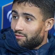 PARIS, FRANCE - March 25:  Nabil Fekir #18 of France on the bench during the France V Iceland, 2020 European Championship Qualifying, Group Stage at  Stade de France on March 25th 2019 in Paris, France (Photo by Tim Clayton/Corbis via Getty Images)