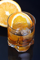Close up of orange beverage