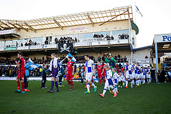 The teams make their way out - Rogan Thomson/JMP - 04/12/2016 - FOOTBALL - Memorial Stadium - Bristol, England - Bristol Rovers v Barrow AFC - FA Cup Second Round.