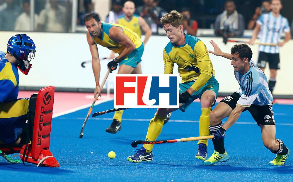 Odisha Men's Hockey World League Final Bhubaneswar 2017<br /> Match id:22<br /> Argentina v Australia<br /> Foto: Diego Paz (Arg)  <br /> WORLDSPORTPICS COPYRIGHT KOEN SUYK