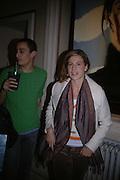 Francesca Versace. Pintura del Siglo XXI - Julian Schnabel exhibition. ROBILANT + VOENA, Dover St. London. 19  October 2005. ONE TIME USE ONLY - DO NOT ARCHIVE © Copyright Photograph by Dafydd Jones 66 Stockwell Park Rd. London SW9 0DA Tel 020 7733 0108 www.dafjones.com
