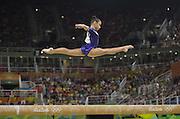August 15, 2016 - Rio de Janeiro, RJ, Brazil - Flavia Saraiva - Brazil, on the balance beam during women's individual balance beam final in artistic gymnastics at Olympic Arena. <br /> ©Exclusivepix Media