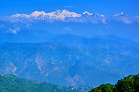 Inde, Bengale Occidental, Darjeeling, vue sur les Himalayas et le Kangchenjunga à 8586m // India, West Bengal, Darjeeling, view to the Himalayas, the Kangchenjunga 8586m