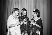 09/02/1966<br /> 02/09/1966<br /> 09 February 1966<br /> Airborne Travel Agency Film Reception at the Irish Sugar Co. Theatre at Earlsfort Terrace,<br /> Dublin. Pictured prior to the continental film show were three Spanish students in national dress, members of the English LanguageStudies school for foreign students who received guests at the reception (l-r): Miss Catalina Rosales; Baron Michael Raben (Director, Airborne Travel Agency); Miss Amparo Moreno; Mr. John D. O'Neill, Manager of Airborne Travel Agency and Miss Adelina Tost.