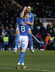 Josh Knight of Peterborough United celebrates scoring his goal with team-mate Niall Mason - Mandatory by-line: Joe Dent/JMP - 08/02/2020 - FOOTBALL - Weston Homes Stadium - Peterborough, England - Peterborough United v Oxford United - Sky Bet League One