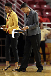 21 December 2015: Jessica Grason & Cathy Boswell. Illinois State University Women's Basketball team hosted The Cougars of Chicago State at Redbird Arena in Normal Illinois.