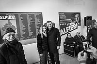 VALLO DELLA LUCANIA (SA) - 4 FEBBRAIO 2018: Franco Alfieri (Partito Democratico), candidato alla Camera dei Deputati nel collegio uninominale di Agropoli (Campania), ex sindaco di Agropoli e capo della segreteria politica del governatore della Regione Campania Vincenzo De Luca, incontra i suoi sostenitori all'inaugurazione del suo comitto elettorle in  a Vallo della Lucania (SA) il 4 febbraio 2018.<br /> <br /> Le elezioni politiche italiane del 2018 per il rinnovo dei due rami del Parlamento – il Senato della Repubblica e la Camera dei deputati – si terranno domenica 4 marzo 2018. Si voterà per l'elezione dei 630 deputati e dei 315 senatori elettivi della XVIII legislatura. Il voto sarà regolamentato dalla legge elettorale italiana del 2017, soprannominata Rosatellum bis, che troverà la sua prima applicazione<br /> <br /> ###<br /> <br /> VALLO DELLA LUCANIA, ITALY - 4 FEBRUARY 2018: Franco Alfieri (Democratic Party / Partito Democratico), former mayor of Agropoli chief of staff of the governor of the Campania region Vincenzo De Luca, meets his supporters at the inauguration of his electoral committee in Vallo della Lucania, Italy, on February 4th 2018.<br /> <br /> The 2018 Italian general election is due to be held on 4 March 2018 after the Italian Parliament was dissolved by President Sergio Mattarella on 28 December 2017.<br /> Voters will elect the 630 members of the Chamber of Deputies and the 315 elective members of the Senate of the Republic for the 18th legislature of the Republic of Italy, since 1948.