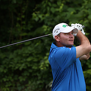 Tommy Gainey, USA, in action during the first round of the Travelers Championship at the TPC River Highlands, Cromwell, Connecticut, USA. 19th June 2014. Photo Tim Clayton