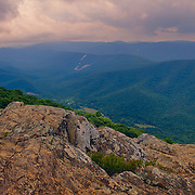"""""""Colors at Ravens Roost""""<br /> <br /> Beautiful mountain layers, clouds and rock formations at Ravens Roost, along the Blue Ridge Parkway in Virginia!"""