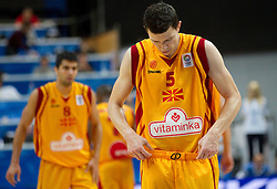 Vlado Ilievski of Macedonia during basketball game between National basketball teams of F.Y.R. of Macedonia and Slovenia at FIBA Europe Eurobasket Lithuania 2011, on September 10, 2011, in Siemens Arena,  Vilnius, Lithuania. Macedonia defeated Slovenia 68-59. (Photo by Vid Ponikvar / Sportida)