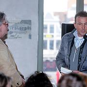 """BEL/Gent/20130222 - Boekpresentatie Jeroen Wielaert """" Het Vlaanderen van de Ronde"""" aan Johan Musseuw,"""