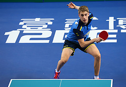 February 23, 2018 - London, England, United Kingdom - Anton KALLBERG of Sweden .during 2018 International Table Tennis Federation World Cup match between Anton KALLBERG of Sweden  against Xin Xu of China at Copper Box Arena, London  England on 23 Feb 2018. (Credit Image: © Kieran Galvin/NurPhoto via ZUMA Press)
