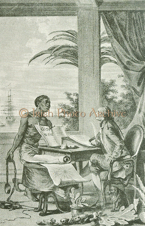 The picture of a negro, who was brought to Holland, when only a boy of 8.  Mr James van Goch, a director of the East India Company, had him educated.  In 1742 he took his degree as D.A. at Leyden, on a dissertation in which he defended slavery as not being contradictory to the principles of Christianity.