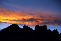 HIgh peaks of the Cirque of the Towers at sunset, Wind River Range, Wyoming.