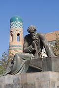 Uzbekistan, Khiva. Statue of Arab mathematician Muhammed Al-Chwarizmi, inventor of the algorithms.