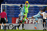 Bolton Wanderers goalkeeper Ben Alnwick (13) gets up to collect the ball i the dying seconds of the game during the EFL Sky Bet Championship match between Bolton Wanderers and Sunderland at the Macron Stadium, Bolton, England on 20 February 2018. Picture by Craig Galloway.