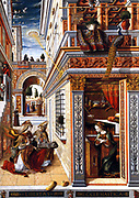The Annunciation, with Saint Emidius 1486, Carlo Crivelli