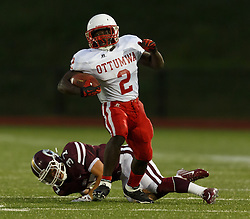 Oskaloosa, IA  September 05,2014-- Ottumwa High School football vs Oskaloosa High School.