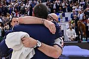 DESCRIZIONE : Beko Legabasket Serie A 2015- 2016 Playoff Quarti di Finale Gara3 Dinamo Banco di Sardegna Sassari - Grissin Bon Reggio Emilia<br /> GIOCATORE : Matteo Boccolini Massimo Maffezzoli<br /> CATEGORIA : Fair Play Ritratto Delusione Postgame<br /> SQUADRA : Dinamo Banco di Sardegna Sassari<br /> EVENTO : Beko Legabasket Serie A 2015-2016 Playoff<br /> GARA : Quarti di Finale Gara3 Dinamo Banco di Sardegna Sassari - Grissin Bon Reggio Emilia<br /> DATA : 11/05/2016<br /> SPORT : Pallacanestro <br /> AUTORE : Agenzia Ciamillo-Castoria/L.Canu