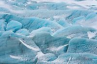 Svínafellsjökull outlet glacier, part of Vatnajökull Glacier, Southeast Iceland.